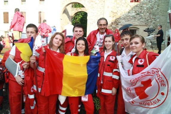 Delegatia Crucii Rosii Romane si Francesco Rocca -  Presedintele Crucii Rosii Italiene