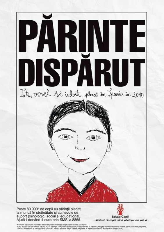 Salvati Copiii Romania - Poster Parinti Disparuti_Tata