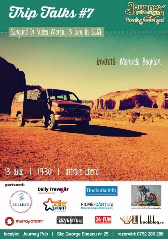 Afis Trip Talk Manuela Boghian