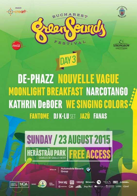 Afis line-up day 3 GreenSounds