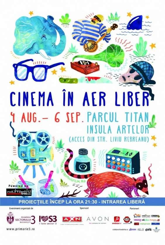 Cinema in aer liber Bucuresti