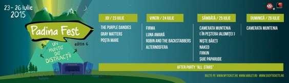 PADINA FEST 2015 - PROGRAM PE ZILE. cu ogo