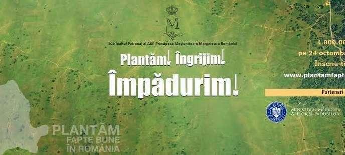 1.000.000 de copaci vor fi redati Romaniei pe 14 noiembrie