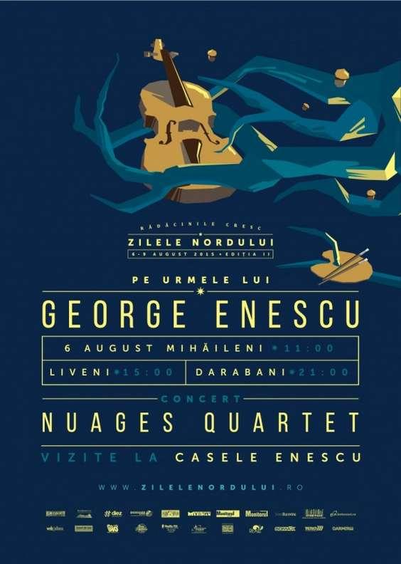 Afiș Enescu la Zilele Nordului