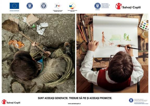 Afis Salvati Copiii Romania - Centre Educationale Integrate pentru Grupuri Vulnerabile