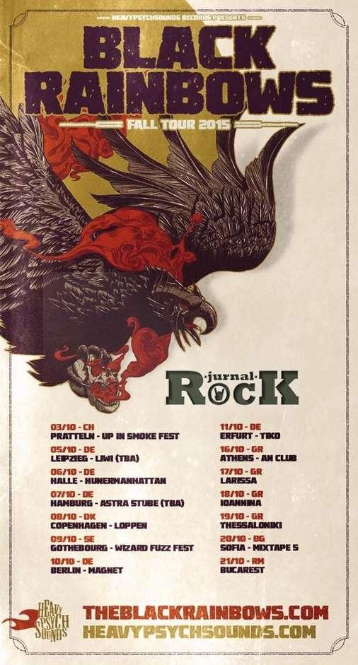 Poster Black Rainbows Tour