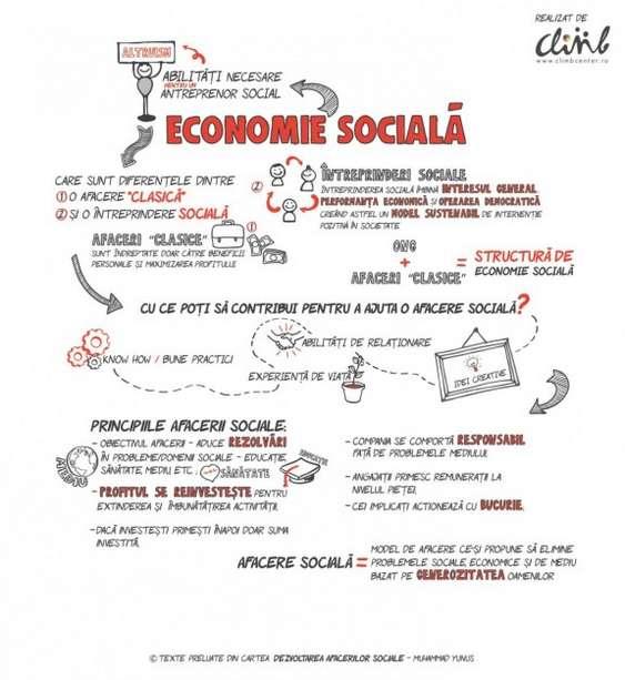 Infographic economie sociala