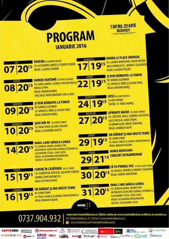 TAB_Afis program ianuarie
