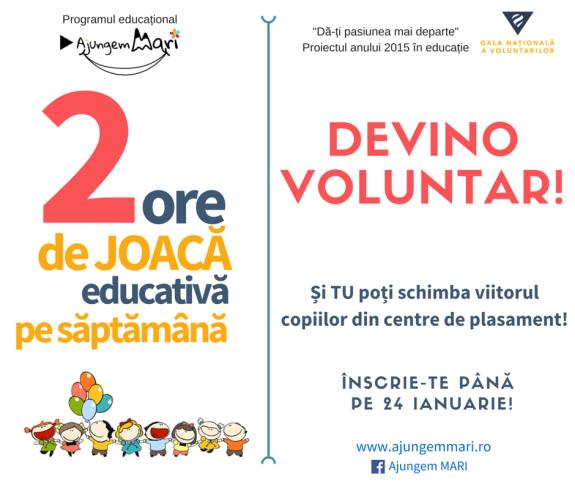 2. Apel la voluntariat - 2 ore