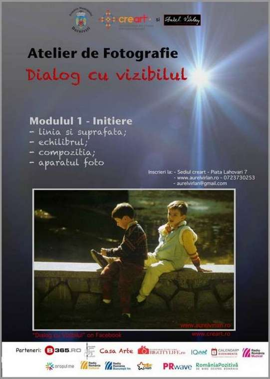 Afis Dialog cu vizibilul - creart