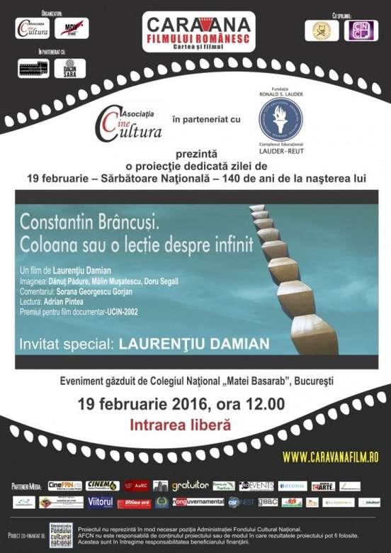 Afis eveniment Constantin Brancusi. Coloana  infinitului