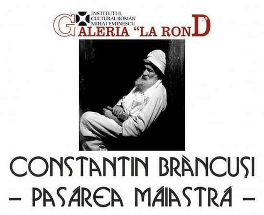 Afisul expozitiei Brancusi