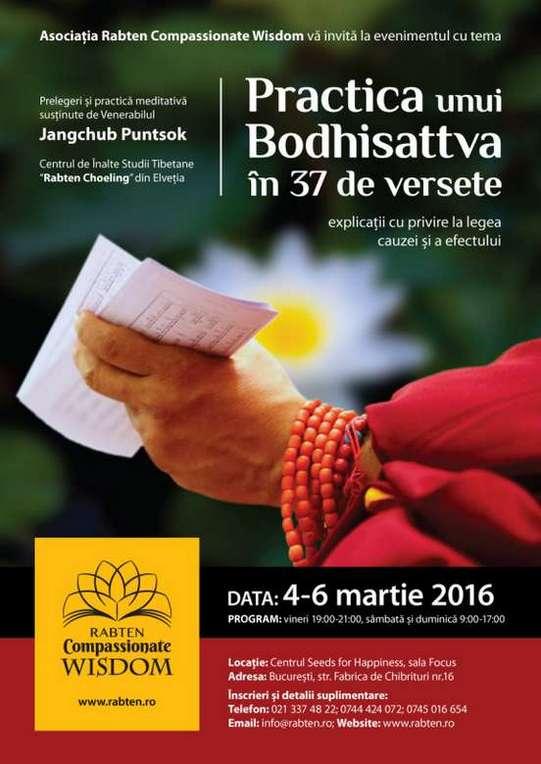 Practica unui Bodhisattva în 37 de versete eveniment Dharma 4-6 Martie Bucuresti