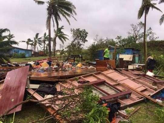 Cyclone Winston hits Fiji