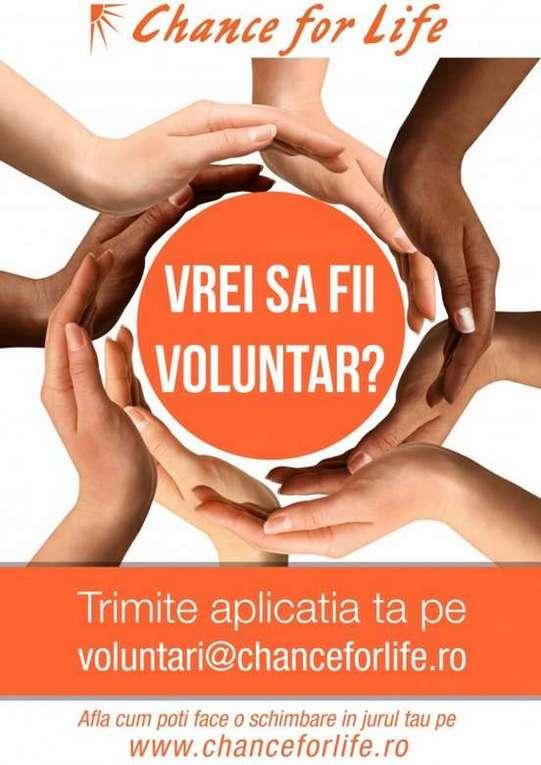 Chance for Life Vrei sa fii voluntar
