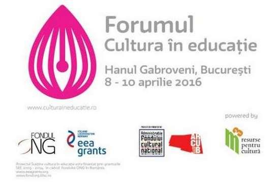 Forumul Cultura in educatie 2016