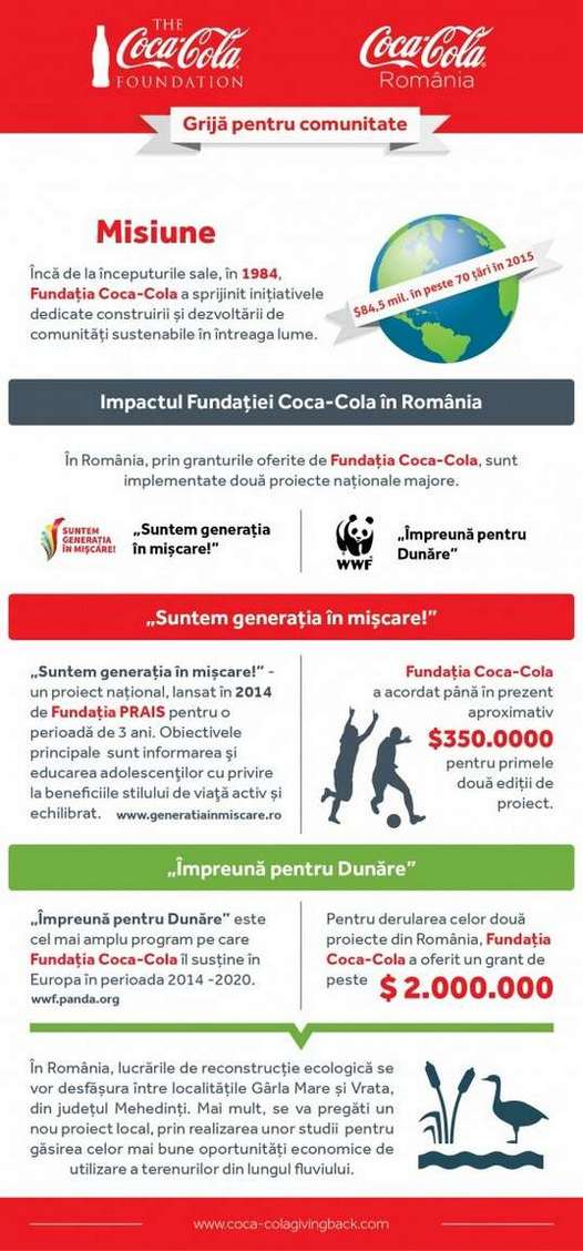Grafic Fundatia Coca-Cola