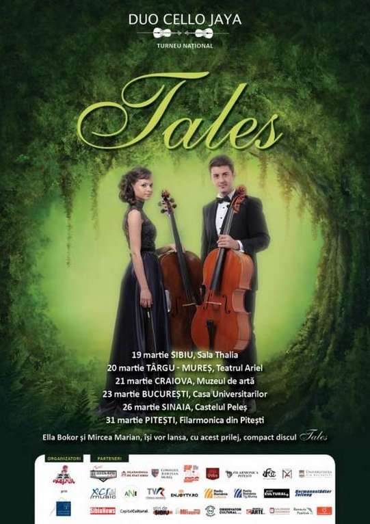 Poster Duo Cello Jaya, turneul Tales