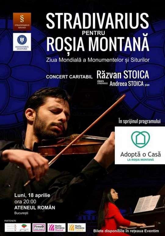 afis Sradivarius pentru Rosia Montana