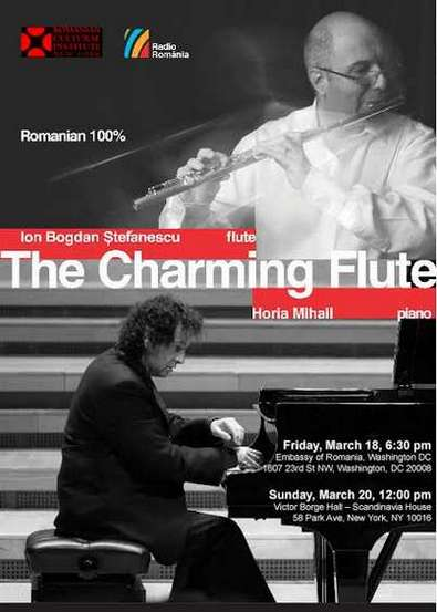 poster The Charming Flute NY & Washington