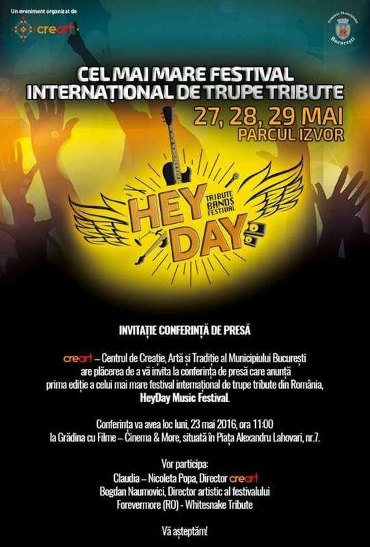 Invitatie la Conferinta de Presa HEYDAY
