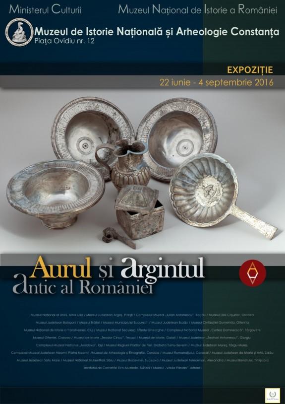 Afis_expo_Aurul si Argintul Antic_la Constanta_MNIR2016