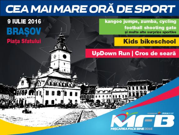 Cea mai mare ora de sport Brasov 2016