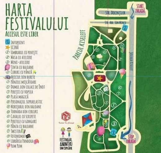 Harta Festivalului Amintiri din Copilarie