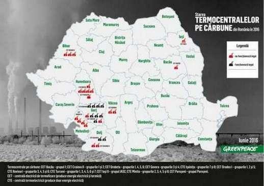 harta starea termocentralelor