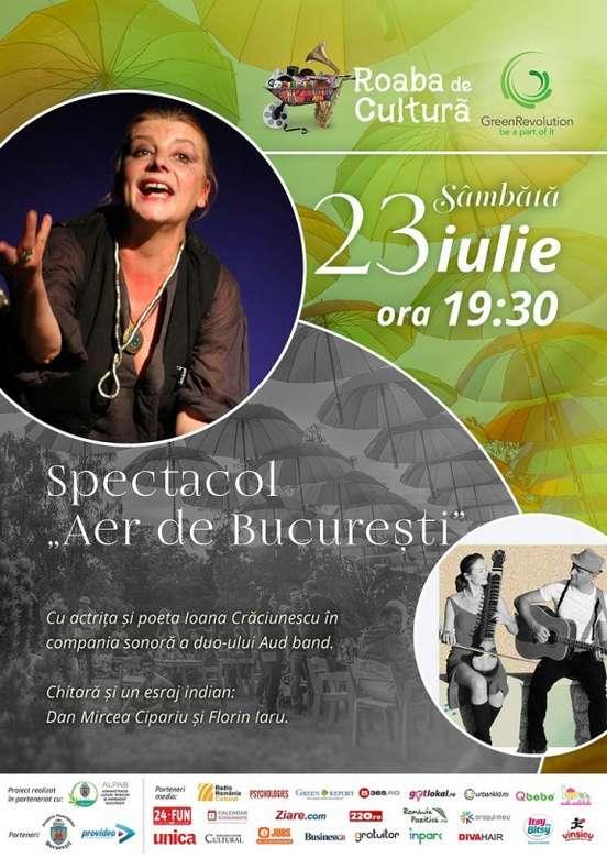 Afis Roaba de Cultura Atelier 23 iulie