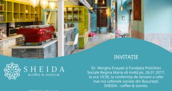Invitatie lansarea cafenelei sociale Sheida