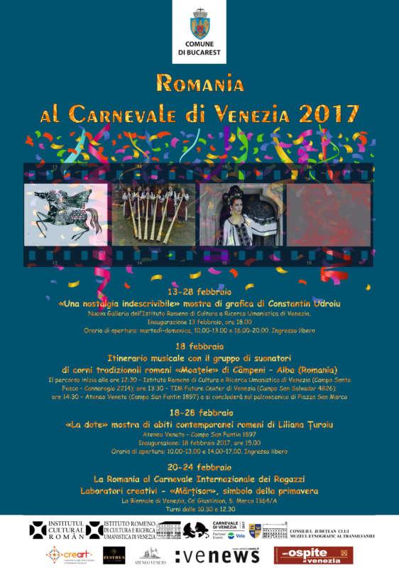 Afis Romania al Carnevale di Venezia 2017