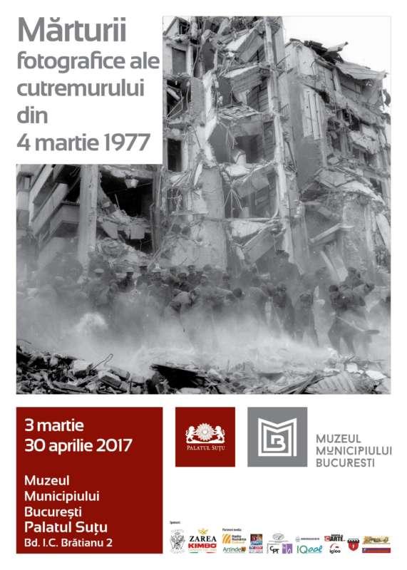 afis Marturii fotografice ale cutremurului din 4 martie 1977