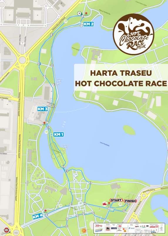 Harta traseu_RUNFEST Hot Chocolate Race 2017