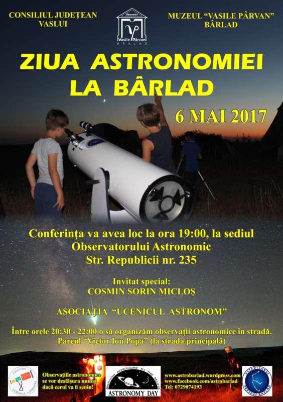 Afis Ziua Astronomiei la Barlad