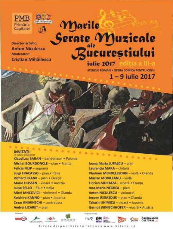 Afis_Marile serate muzicale ale Bucurestiului 2017