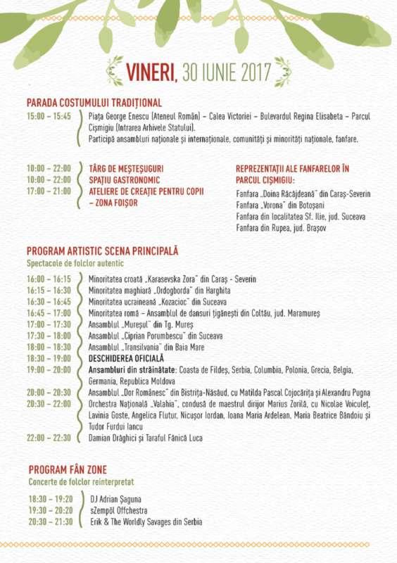 Program ziua 1