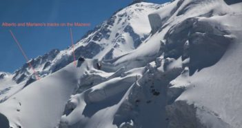 7. Alberto Zerain and Mariano Galvan tracks on the Mazeno Ridge, Nanga Parbat-8125m, 3 july 2017, foto Alex Gavan_2