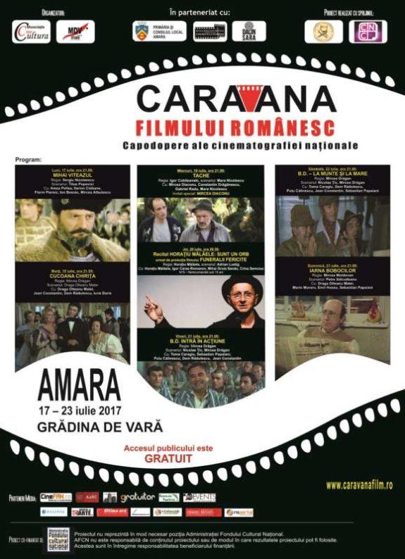 Afis Caravana la Amara iulie 2017 web
