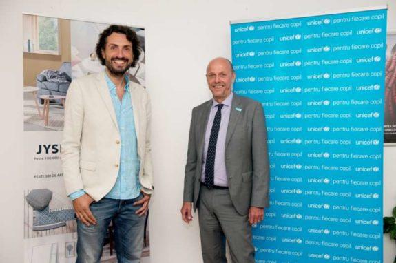 Alex Bratu (JYSK) si Pieter Bult (UNICEF) 2