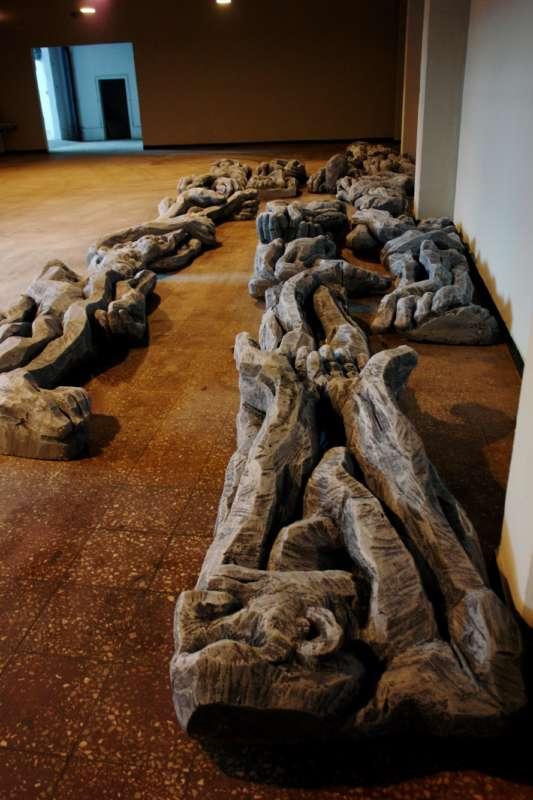 "Cătălin Bădărău, ""Depersonalization"", 2011, Sculpture, carved polystyrene,350 x100x50cm (HxWxD) (3)"