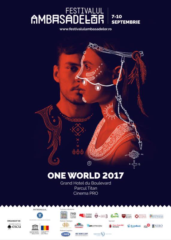 Afis Festivalul Ambasadelor ONE World 2017