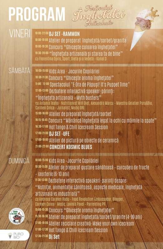 Program Festivalul Inghetatei