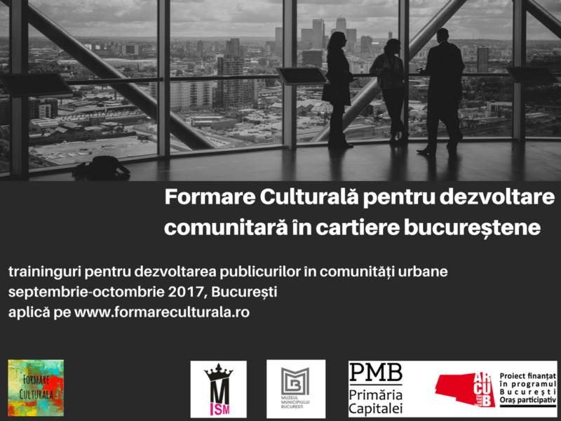 Formare Culturala toamna 2017