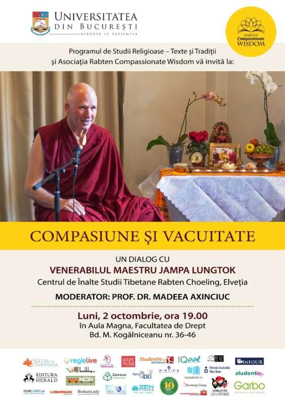 conferinta Compasiune si Vacuitate la Univ. Bucuresti 2 octombrie 2017