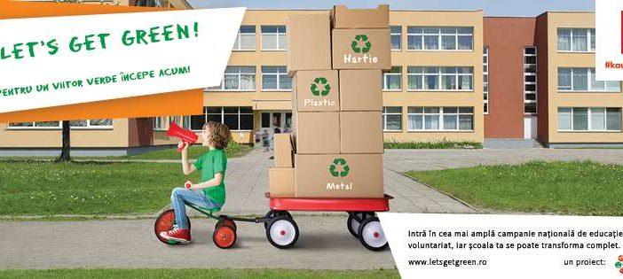 Începe Let's Get Green! – cea mai amplă campanie națională de educație ecologică