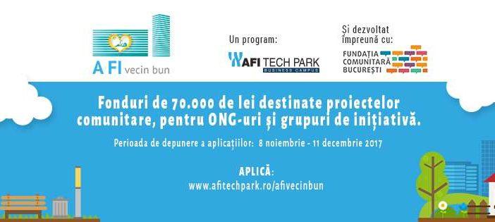 """Fonduri de 70.000 de lei destinate proiectelor comunitare:AFI Europe România și Fundația Comunitară București lansează fondul pentru comunitate """"A FI vecin bun"""""""