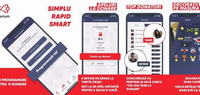 Donorium, aplicația care susține donarea de sânge, numărul 1 pe AppStore în mai puțin de 24 de ore