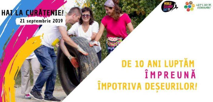 Let's Do It, Romania! organizează Ziua de Curățenie Națională pe 21 septembrie! 26 de județe din România se alătură celor peste 100 de țări care fac curățenie în aceeași zi în lume