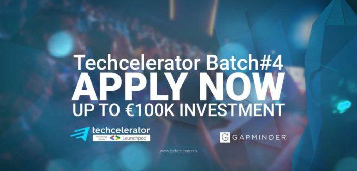 Techcelerator anunță deschiderea înscrierilor la a patra rundă a programului, cu finanțări de până la 100.000 de euro/startup